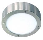 Светильник настенно потолочный галогенный для ванной комнаты. диам 280мм. 2хG9, 25W,220V,  IP23, сталь, стекло.