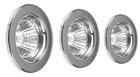 Набор галогенных светильников встраиваемых для ванной комнаты. Сталь. GU10, 50W,220V,  IP23, цвет металлик