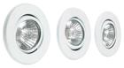 Набор галогенных светильников встраиваемых поворотных для ванной комнаты. Сталь. GU10, 50W,220V,  IP23, цвет белый