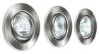 Набор галогенных светильников встраиваемых поворотных для ванной комнаты. Сталь. GU10, 50W,220V,  IP23, цвет металлик