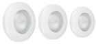 Набор галогенных светильников встраиваемых для ванной комнаты. Сталь. 3xGU10, 50W,220V,  IP44, цвет белый