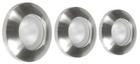 Набор галогенных светильников встраиваемых для ванной комнаты. Сталь. 3xGU10, 50W,220V,  IP44, хром
