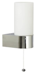 Светильник для ванной комнаты с выкл. Е14,40W,220V,  IP23, сталь, стекло.