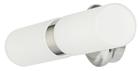 Светильник для ванной комнаты. 2хЕ14,40W,220V,  IP44, сталь, стекло.