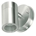 Светильник галогенный для ванной комнаты. G10,35W,220V,  IP23, нержавеющая сталь, стекло.
